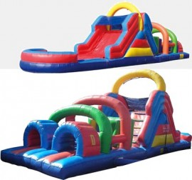 40' Obstacle Course with Slide for Rent
