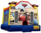 Cars Bounce House with Basketball Hoop