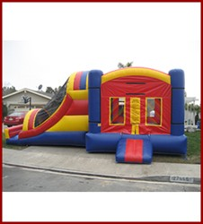 Funhouse Bounce House with Slide Combo