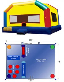 Extra Large Fun House with Obstacle Area