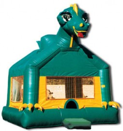 Dinosaur Bounce House (Green) for Rent