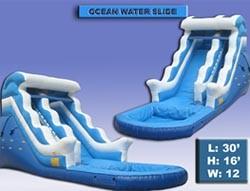 Ocean Water Slide with Pool