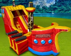 Pirate Ship Slide and Bouncer Inflatable Combo