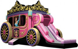 Princess Carriage Jumper Slide Combo