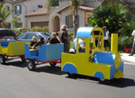 Trackless Train for Rent (Blue)