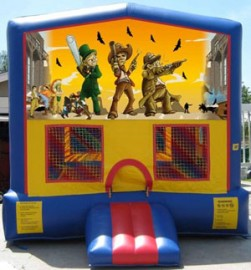 Western Themed Modular Bounce House #2