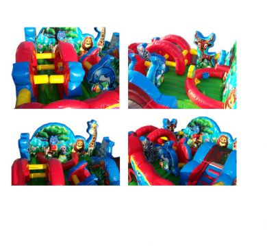 Animal Kingdom Toddler Inflatable Game Inside View